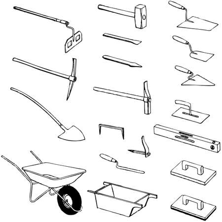 hummer: collection of tool vector