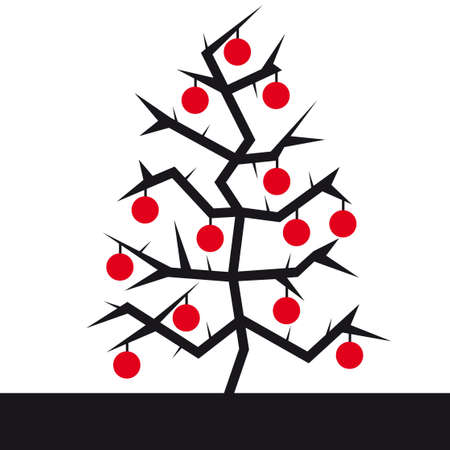 Christmas tree vector illustration Vector