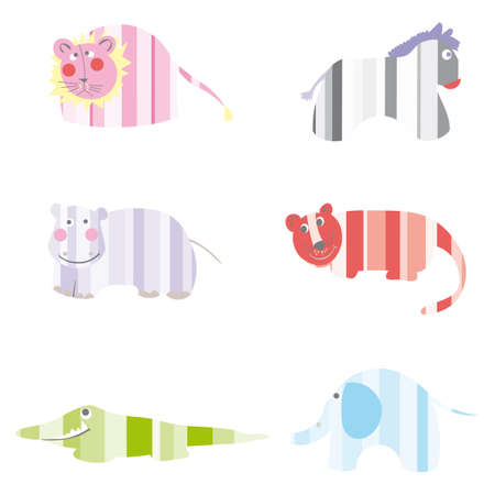 Cartoon vector illustration animals Vector