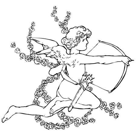 amor: Amor Vector Illustration. Valentines Tag Illustration