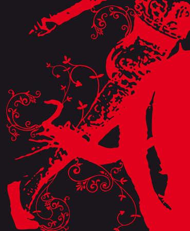 Toro illustrazione vettoriale di matador spagnolo grunge