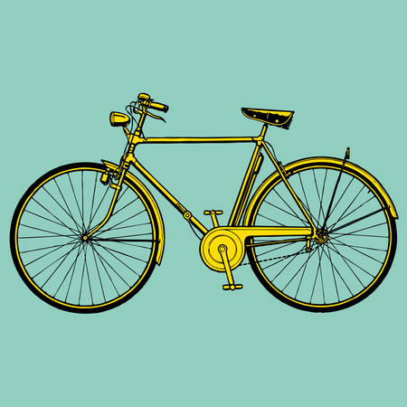 bicycles: old classic bike Illustration Vector