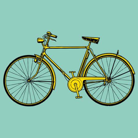 bike vector: vieja bicicleta cl�sica ilustraci�n vectorial