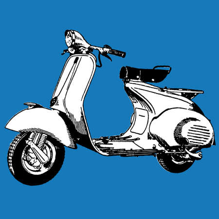 vespa: Motocycle scooter ilustraci�n  Vectores
