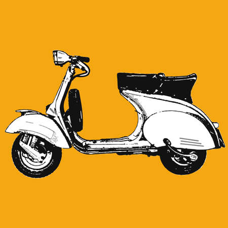 Motocycle scooter illustration Stock Vector - 5950956