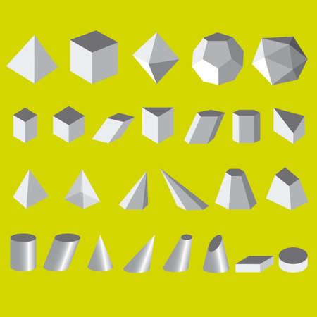 polyhedron: geometric 3d shape illustration Illustration