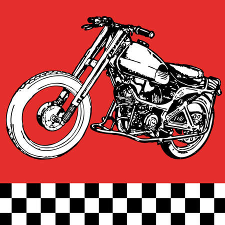 lamp silhouette: moto motocycle retro vintage classic vector illustration  Illustration