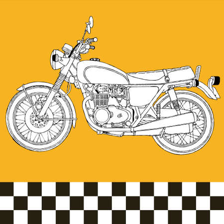 yesteryear: ilustraci�n vectorial de cl�sico vintage retro de moto scooter motocycle  Vectores