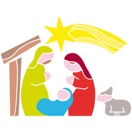 Illustration vector. Star of Bethlehem. Nativity  Vector