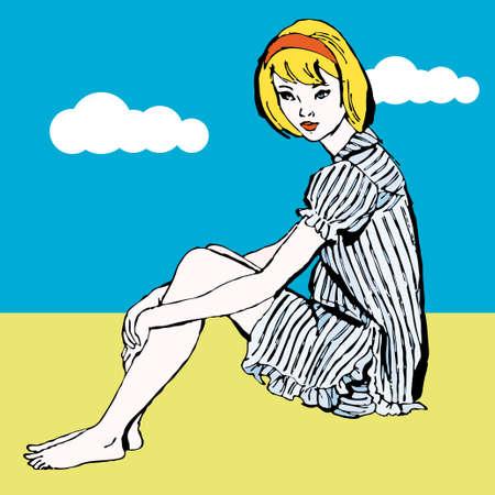 sensational: Dreaming pop art girl  Illustration