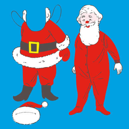 Santa Claus Doll Vector Illustration. Christmas