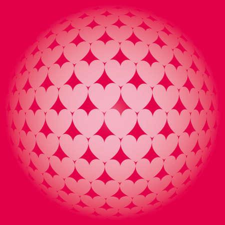 Illustration heart pattern background Stock Vector - 6110684