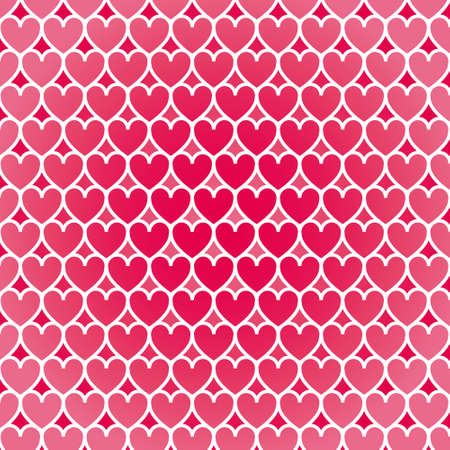 Illustration heart pattern background Vector
