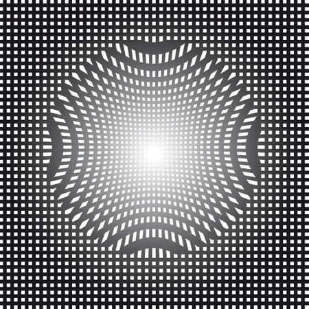 abstracto: Op art vector illustration