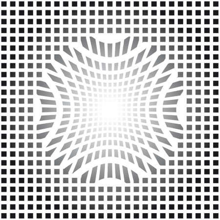 Op art vector illustration