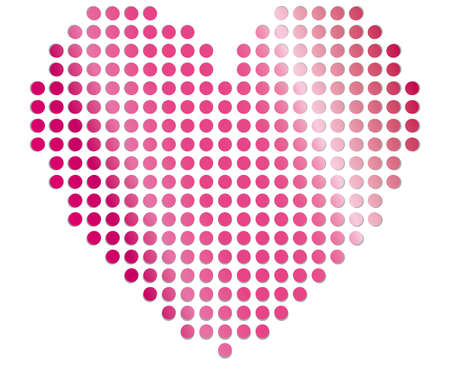 heart points vector illustraton Vector