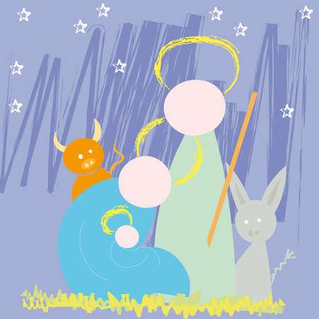 nativity. Vector illustration Christmas Vector