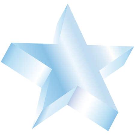 3D star vector illustration Vector