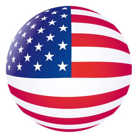 banderas americanas: Bandera de Estados Unidos de vector