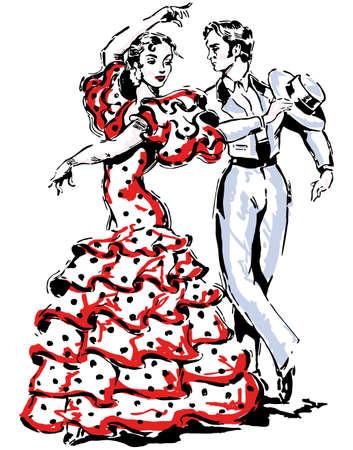 Typical spanish vector illustration