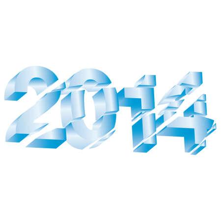 Beautiful numerical designation of new 2014 Vector