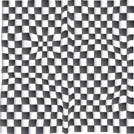 visual effect: visual effect with chess board Illustration