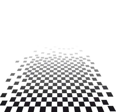 effetto visivo con scacchiera  Vettoriali