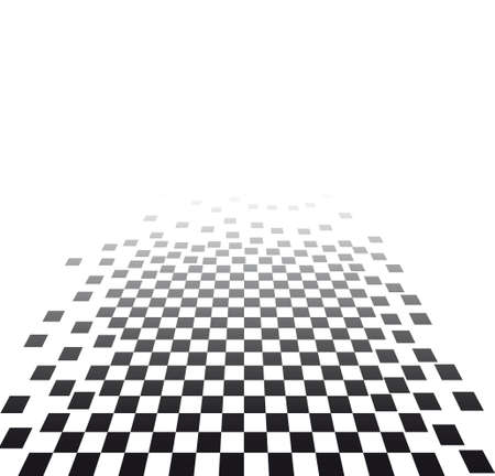 visual effect with chess board Vector