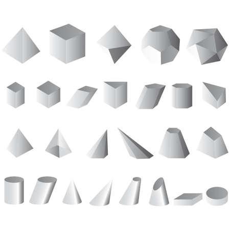 set vector illustration simple shapes geometric