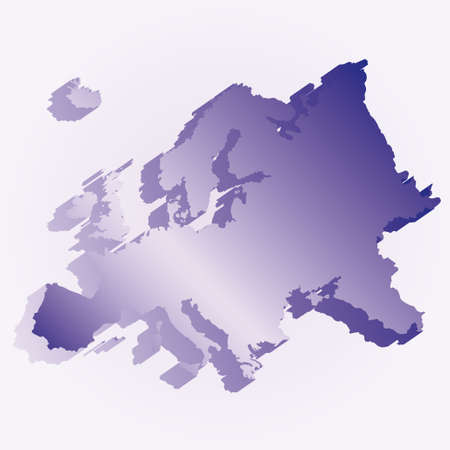 Europe 3D flag map Vector