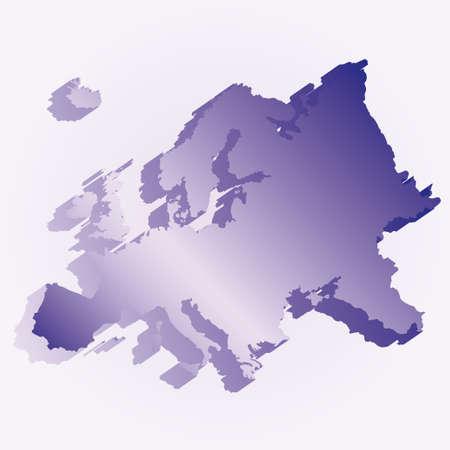 bandera croacia: Mapa 3D de la bandera de Europa