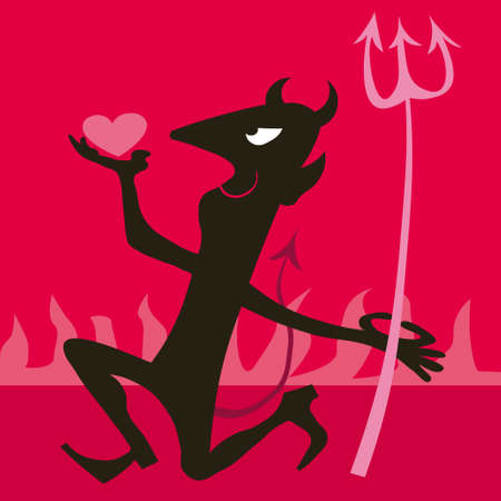 death and dying: Devil vector illustration cartoon