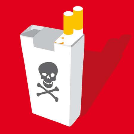 tabacco: cigarette pack vector illustration