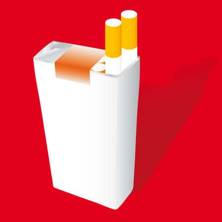 cigarette pack vector illustration Vector