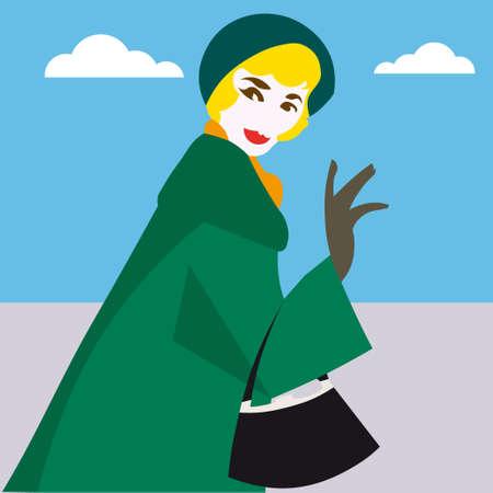 linda: Woman pop  illustration