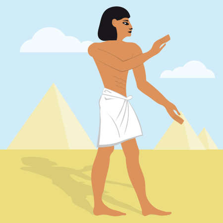 the vector of egyptian cartoon illustration Egypt Vector