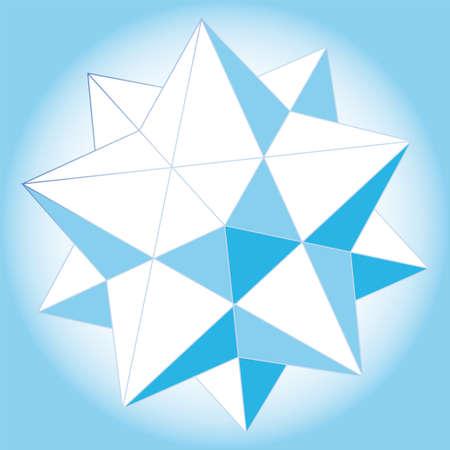tetraedro: Formato 3D astratto illustrazione vettoriale Op art