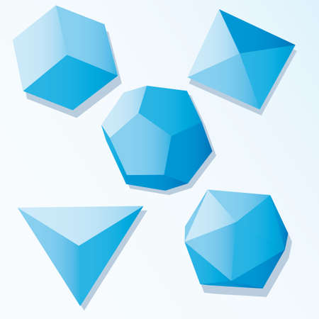 Set of Vector cube elements  Stock Vector - 6304547