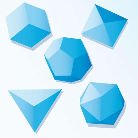 Set of Vector cube elements Stock Vector - 6304547
