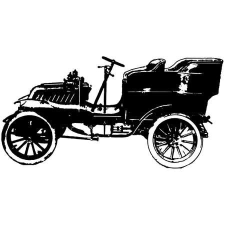tiges: illustration de vecteur de voiture timer ancien