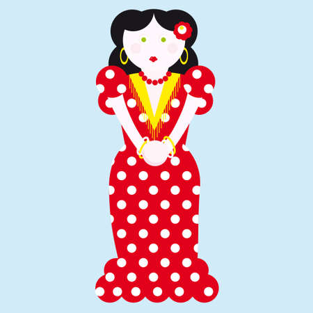 typical: typical spanish flamenco vector illustration
