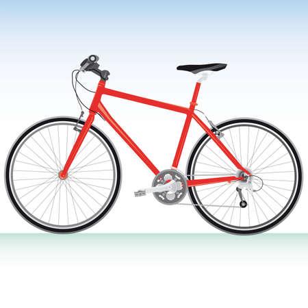 yesteryear: Detalles de ilustraci�n vectorial de bicicleta de bicicleta de monta�a