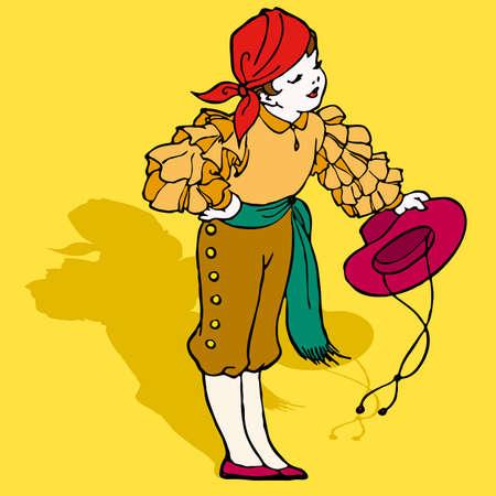 typical spanish flamenco illustration Vector