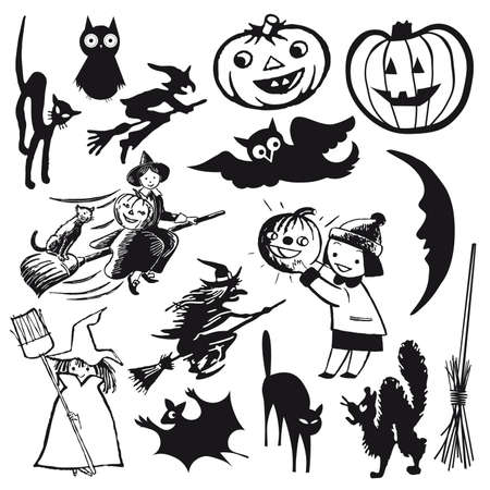 set of illustrations. halloween theme cartoon Stock Vector - 6475751