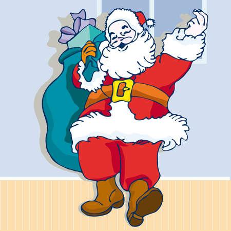 Santa Claus Illustration cartoon. Christmas Illusztráció