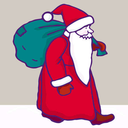 saint nicholas: Santa Claus Illustration cartoon. Christmas Illustration