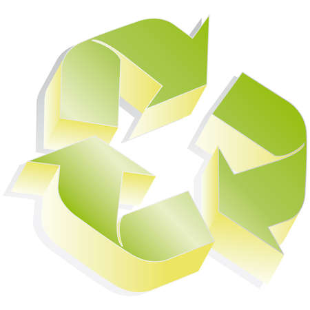 Recycle symbol 3D icon illustration Stock Vector - 6583558