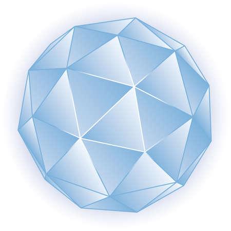octahedron: Polyhedron illustration 3D