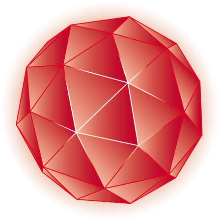 polyhedron: Poliedro geom�trica ilustraci�n 3D