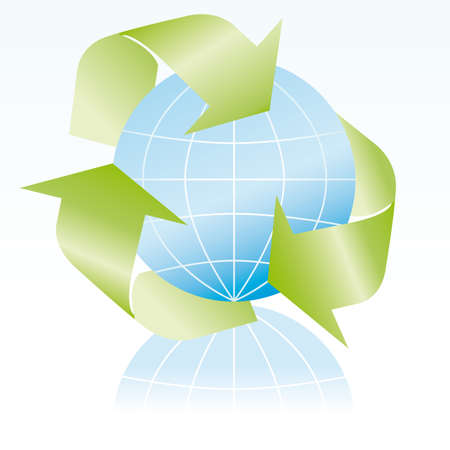 Recycle symbol 3D icon illustration  Vector